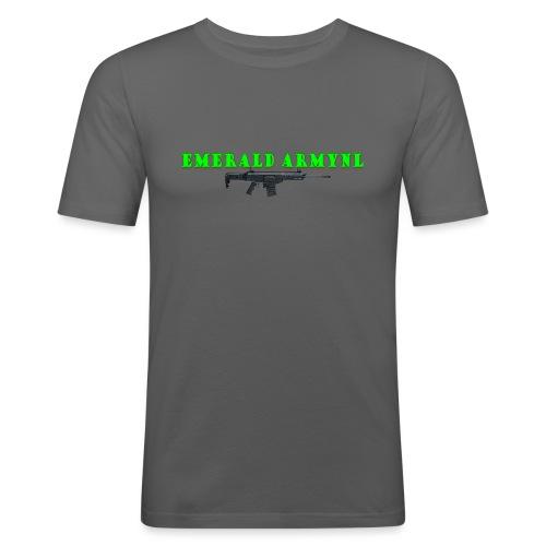 EMERALDARMYNL LETTERS! - Mannen slim fit T-shirt