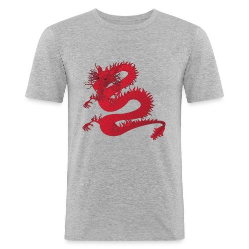 red dragon - Slim Fit T-skjorte for menn