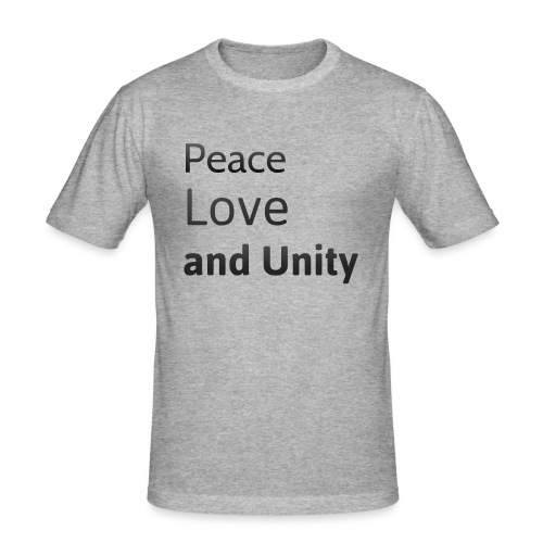 Peace love and unity - Men's Slim Fit T-Shirt