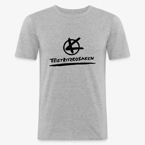 Feistritzkosaken Logo dunkel - Männer Slim Fit T-Shirt