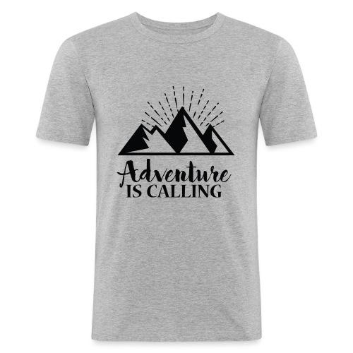 Adventure is calling Camping Mountain Go Explore - T-shirt près du corps Homme