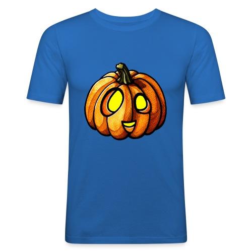 Pumpkin Halloween watercolor scribblesirii - Herre Slim Fit T-Shirt