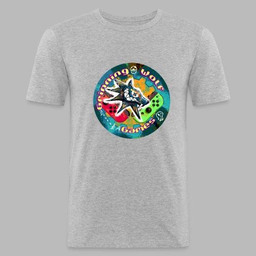 Grinning Wolf Games 21 Round logo - Men's Slim Fit T-Shirt