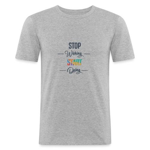 OK start Doing - T-shirt près du corps Homme