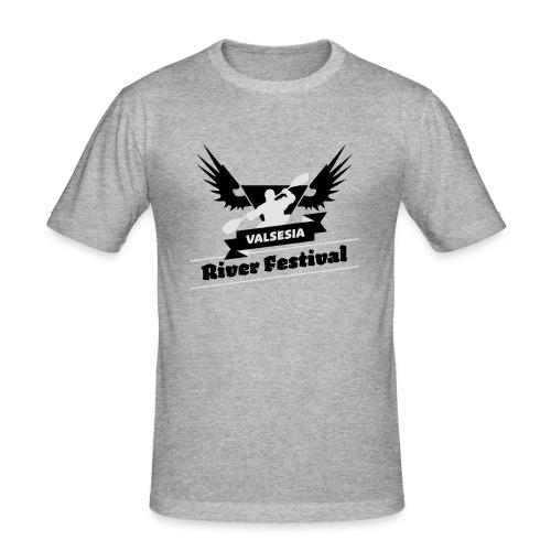 Black Silver logo - Men's Slim Fit T-Shirt