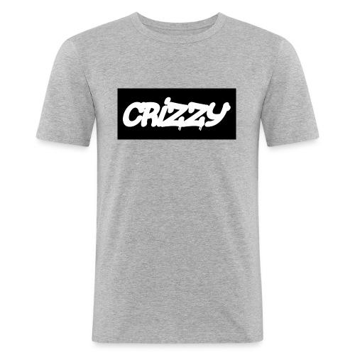 Hettegenser med logo v3 (begge) - Slim Fit T-skjorte for menn
