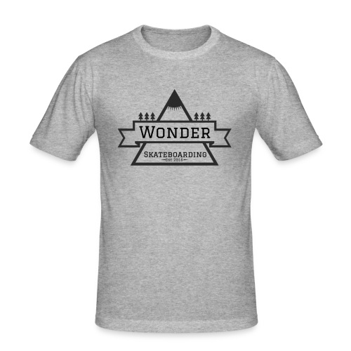 Wonder hoodie no hat - Mountain logo - Herre Slim Fit T-Shirt