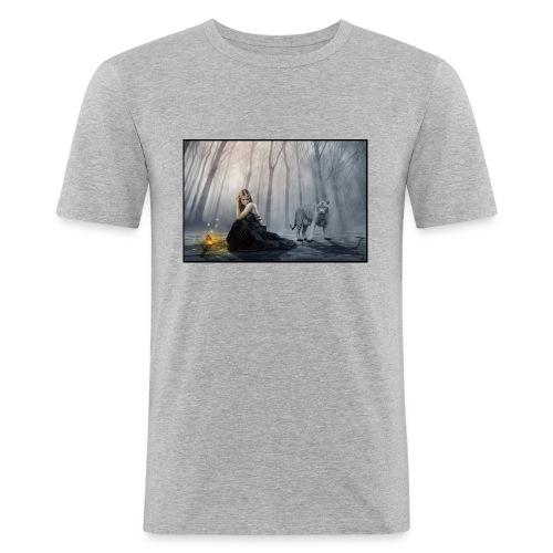 Perdido en el bosqu - Camiseta ajustada hombre