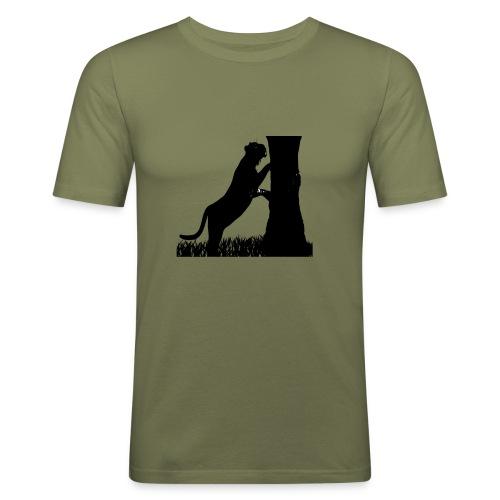 Tiger On A Tree - Maglietta aderente da uomo