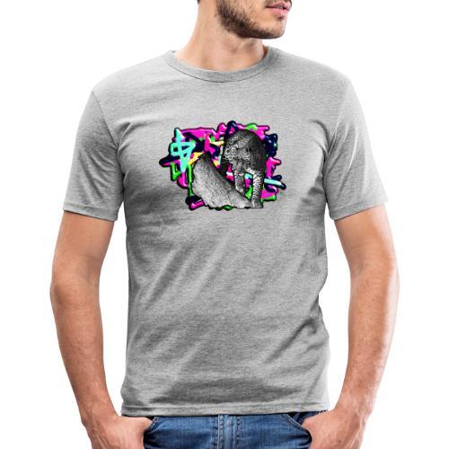 Leopard auf Bunt - Männer Slim Fit T-Shirt