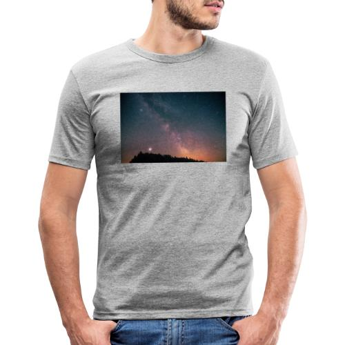 Milchstraße Fotografie Galaktisches Zentrum - Männer Slim Fit T-Shirt