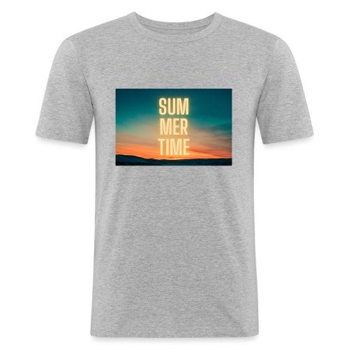 Summer Time - Männer Slim Fit T-Shirt