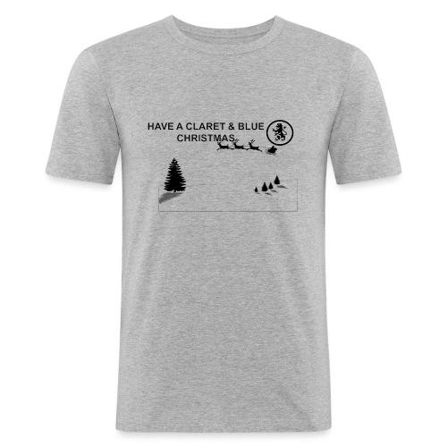 Claret and Blue Xmas - Men's Slim Fit T-Shirt