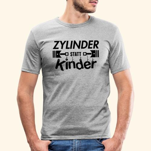 Zylinder Statt Kinder - Männer Slim Fit T-Shirt