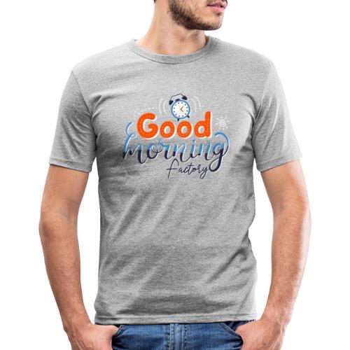 Good Morning Factory - Maglietta aderente da uomo