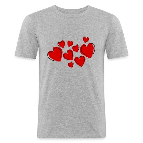 hearts herzen - Männer Slim Fit T-Shirt