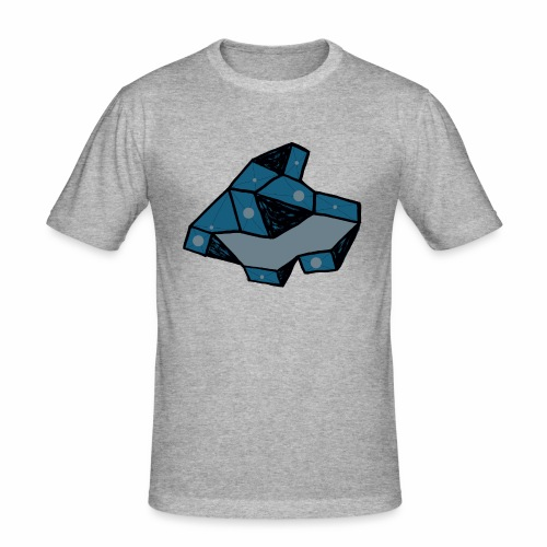 dot rock - Mannen slim fit T-shirt
