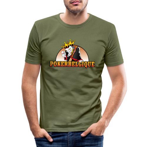 Logo Poker Belgique - T-shirt près du corps Homme