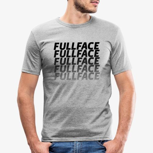 FULLFACE #1 black - Männer Slim Fit T-Shirt