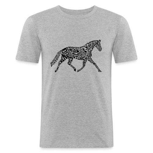 Körpertraining Logo schwarz - Männer Slim Fit T-Shirt