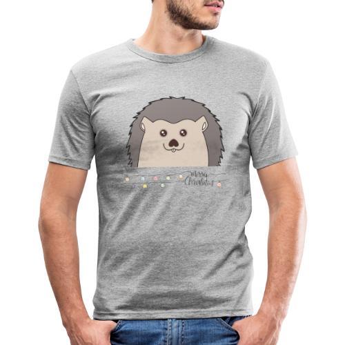 Hed wünscht Merry Christmas - Männer Slim Fit T-Shirt