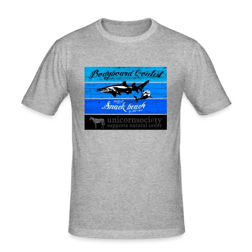 unicorn snack bay transparent 04102014 png - Männer Slim Fit T-Shirt