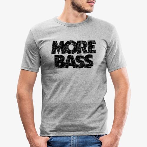 More Bass (Vintage/Schwarz) Bassist Bassisten - Männer Slim Fit T-Shirt