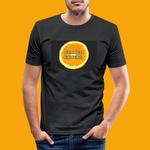 Orange_Logo_Black - Men's Slim Fit T-Shirt