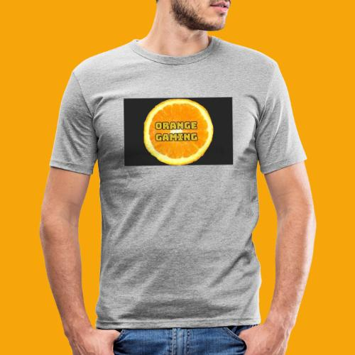 Orange_Logo_Black - Men's Slim Fit T-Shirt