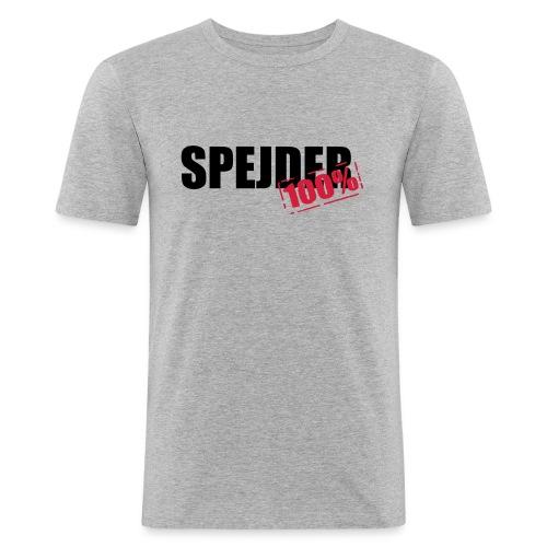 100procent spejder stempel - Herre Slim Fit T-Shirt