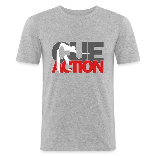 CueAction - Männer Slim Fit T-Shirt