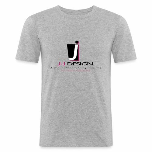 LOGO_J-J_DESIGN_FULL_for_ - Herre Slim Fit T-Shirt