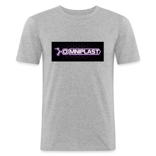 logo_OMNIPLAST_fullcolor_low - Maglietta aderente da uomo