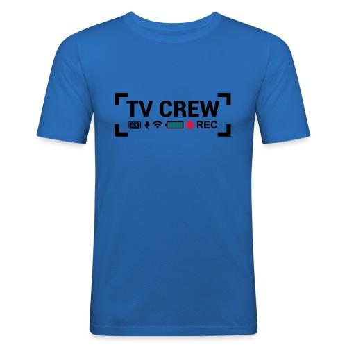TV Crew - Maglietta aderente da uomo
