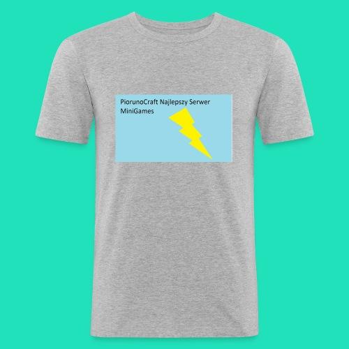 Koszulka Dla Dzieci PiorunoCraft - Obcisła koszulka męska