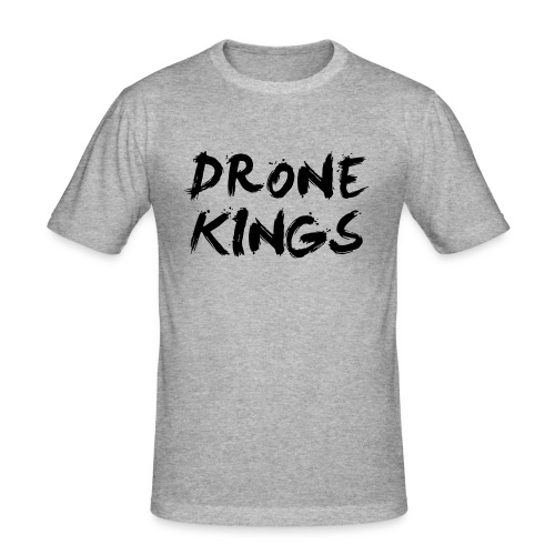 dronekings-blacktext-outlines - Slim Fit T-shirt herr