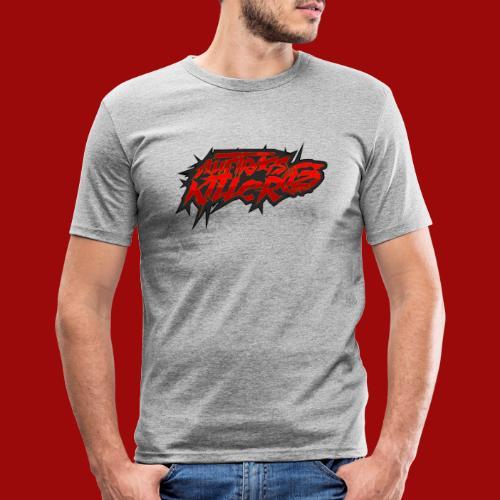 Auftragskillerx2 Schrift - Männer Slim Fit T-Shirt