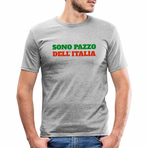 Sono Pazzo Dell'Italia - T-shirt près du corps Homme