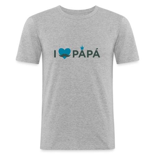 ik hoe van je papa - T-shirt près du corps Homme