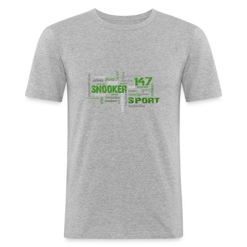 snooker word cloud - Männer Slim Fit T-Shirt