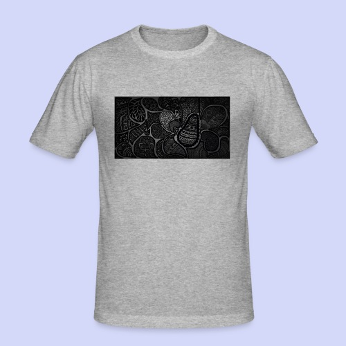 Dark doodle with a light inside! Man tshirt. - Herre Slim Fit T-Shirt