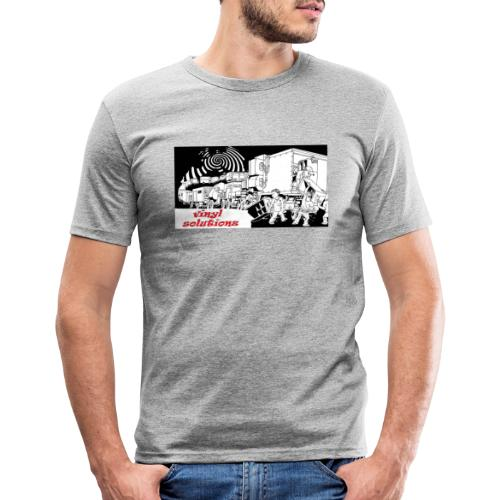 vinyl solutionz - Men's Slim Fit T-Shirt