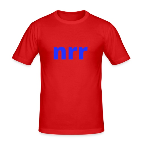 NEARER logo - Men's Slim Fit T-Shirt