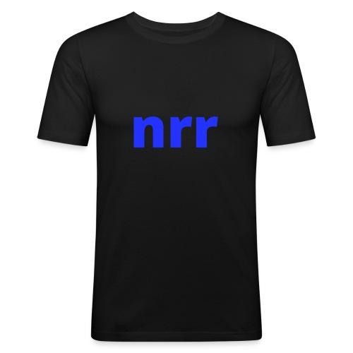 NEARER logo - Men's Slim Fit T-Shirt