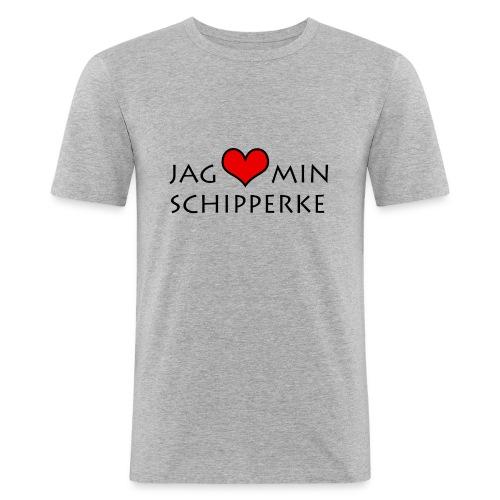 Jag älskar min schipperke herr - Slim Fit T-shirt herr