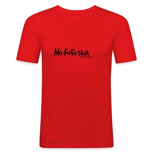 no fufu shit by brochner - Herre Slim Fit T-Shirt