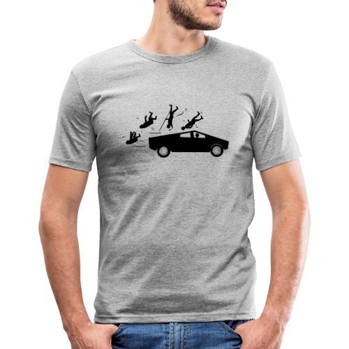 Evolution accident tesla Cybertruck par Elon Musk - T-shirt près du corps Homme