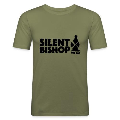 Silent Bishop Logo Groot - Mannen slim fit T-shirt