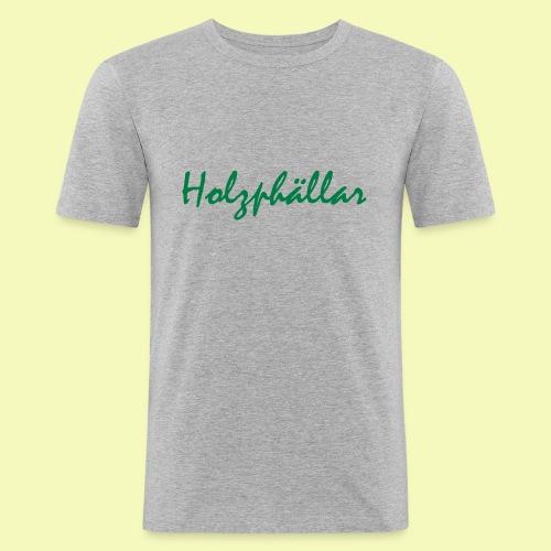 Schriftzug Grün - Männer Slim Fit T-Shirt