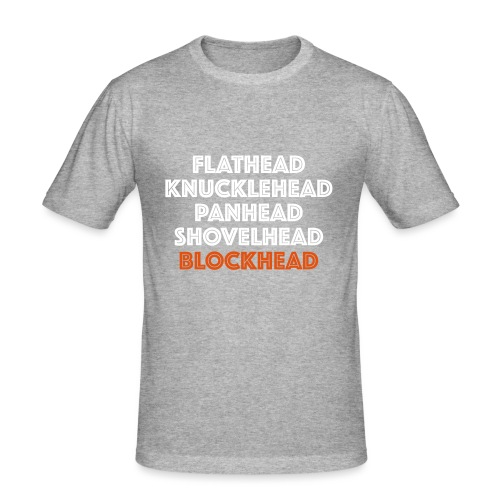 Blockhead 2C - Mannen slim fit T-shirt